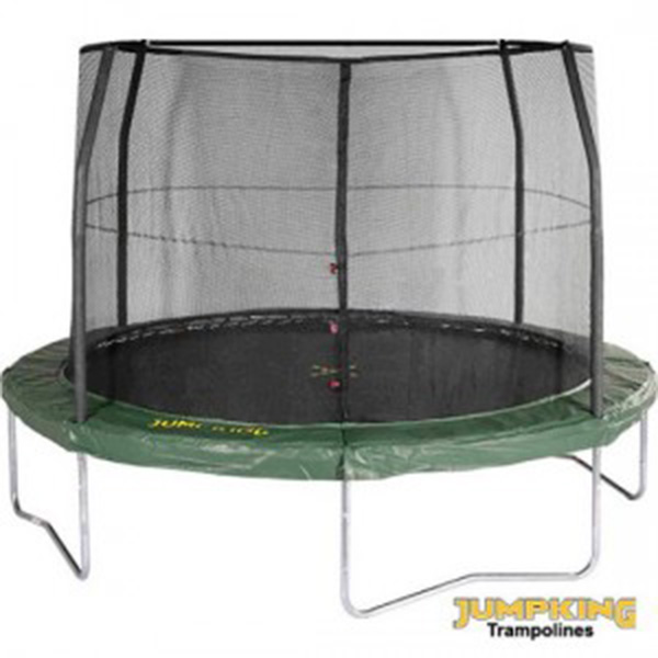 JUMPKING JumpPOD 14 Foot Trampoline And Enclosure